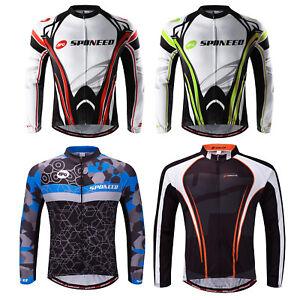 Men-Bike-Jersey-Long-Sleeve-MTB-Road-Cycling-Jackets-Anti-UV-Biking-Top-Full-Zip