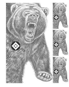 Bear Pistolet Et Fusil Pistolet Papier Tir Animal Objectifs 23x29 Qty-20 Comte-afficher Le Titre D'origine