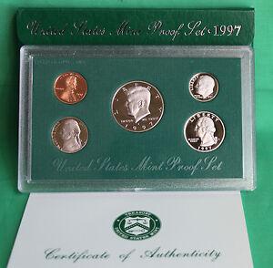 1997-Etats-Unis-excellent-etat-Annual-5-piece-de-monnaie-San-Fran-epreuve-KIT