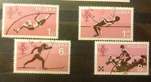 POLAND STAMPS Fi2465-69 Sc2323-26 Mi2612-15 - Polish Olympic Committee,1979,used - Reda, Polska - POLAND STAMPS Fi2465-69 Sc2323-26 Mi2612-15 - Polish Olympic Committee,1979,used - Reda, Polska