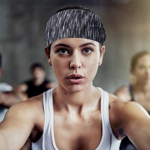 Men Women Sweatband Headband Yoga Gym Running Stretch Sports Head Band Hairband