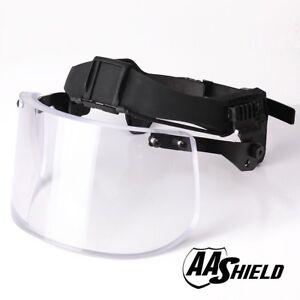 1c2aa6aa AA Shield Ballistic Visor Face Bulletproof Glass Mask For Helmet Lvl ...