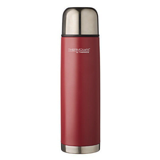 THERMOS THERMOScafe Stainless Steel Vacuum Insulated Slim Flask 500ml Matte Red!