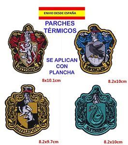 PARCHES-COLEGIO-HOGWARTS-RAVENCLAW-GRYFFINDOR-SLYTHERIN-HUFFLEPUFF-HARRY-POTTER