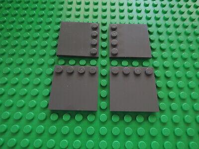 Lego 4 x Fliese 6179 neu dunkelgrau  4x4 Randnoppen