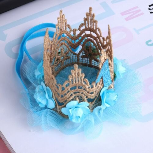 Baby Princess 1st Birthday Hat Flower Crown Party Headband Hairband Photo Props