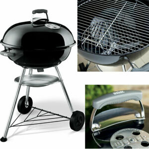 Charcoal BBQ Weber Silver Jumbo Joe 22-Inch Kettle Grill Black Premium Outdoor