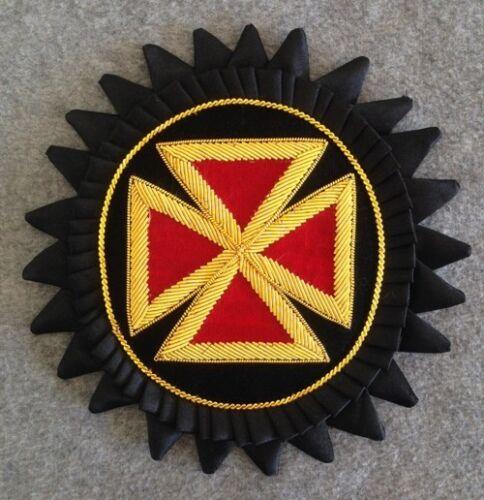 GCR-B Templar Grand Commandery Chapeau Cross with Rosette in Bullion