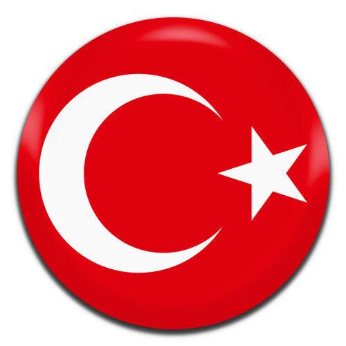 Turkey Flag 25mm 1 Inch D Pin Button Badge