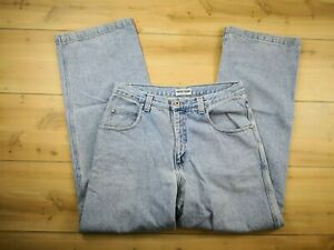 9b081b81fe6 Vnt 90s Guess Mens 31x32 Loose Fit Spell Out Jeans Pants Zip Fly USA ...
