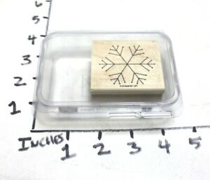 RUBBER STAMP Block by Stamping' Up Simple Snowflake Winter Christmas