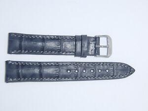 RIOS1931 Germany Embossed Alligator Grain Watch Band Strap 18 mm Gray LOUISIANA