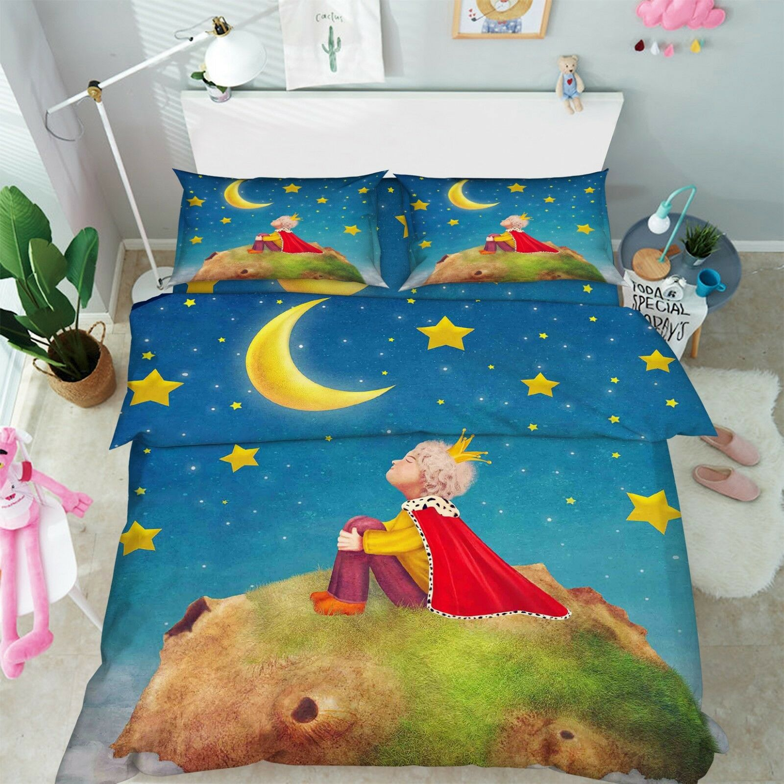 3D Fairy Tale Anime 7 Bed Pillowcases Quilt Duvet Cover Set Single Queen King CA
