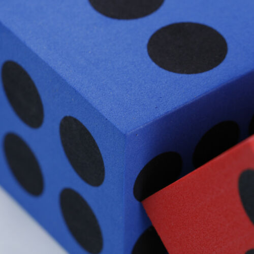 Specialty eva foam playing dice block party toy game prize for children HGUK