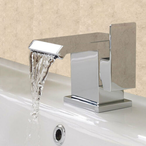 Deck Mounted Bathroom Basin Tap Chrome Bath Mixer Filler Hand Shower Taps Set UK