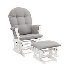 Strange Shermag Glider Rocker And Ottoman White Pearl Fabric Short Links Chair Design For Home Short Linksinfo