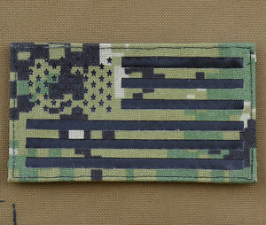 Ir-Cordura-Laser-Cut-Patch-034-American-USA-Flag-AOR2-034-With-Velcro-Brand-Gancho