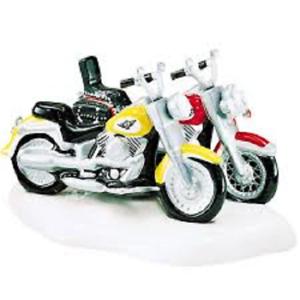 Department 56 Harley Davidson Fat Boy Softail 54900 Snow Village Motorcycles Ebay