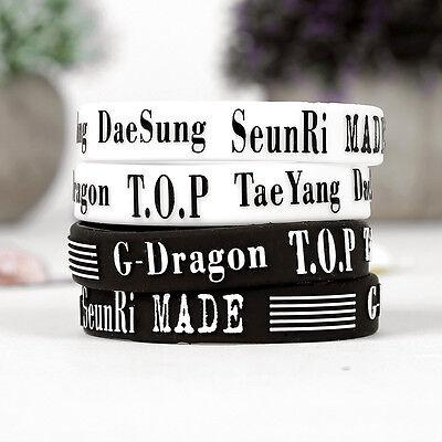 KPOP Bigbang MADE Wristband Big Bang GD TOP Daesung Silicone Bracelet 2PCS