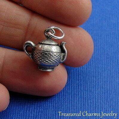 Silver TEAPOT Tea Pot CHARM PENDANT