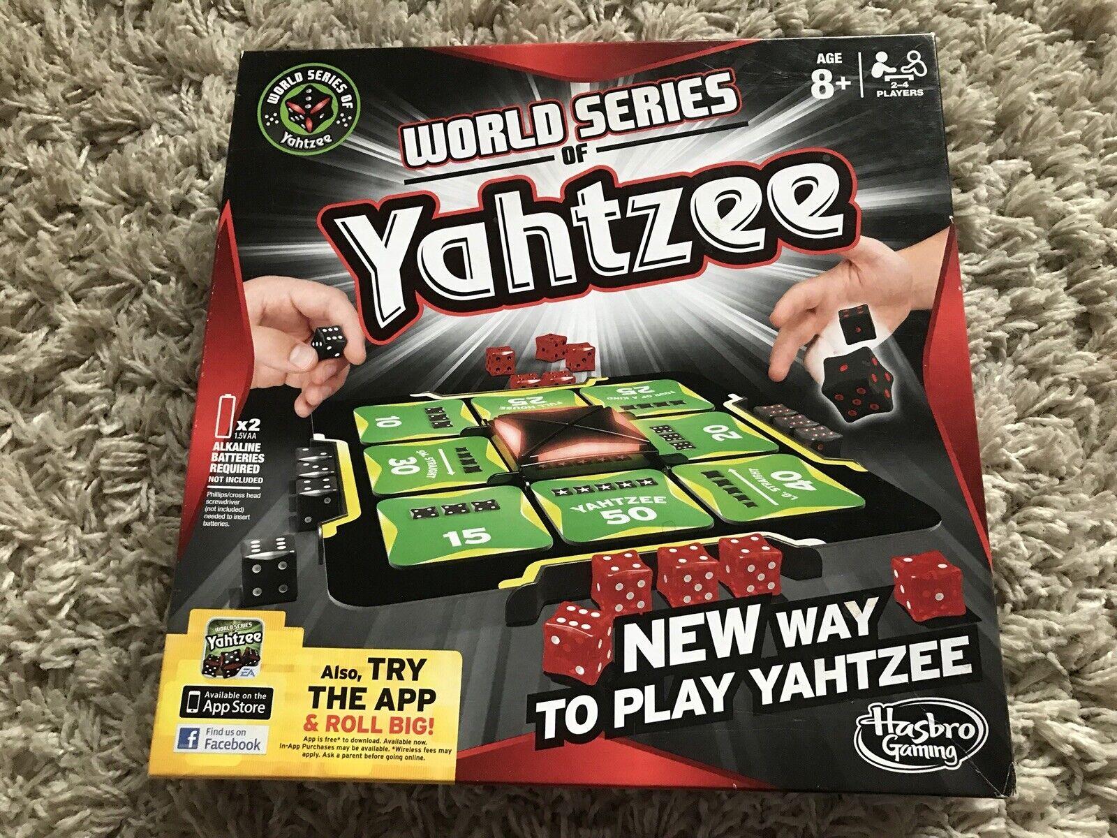 World Series of Yahtzee COMPLETE Hasbro Fun Family Game