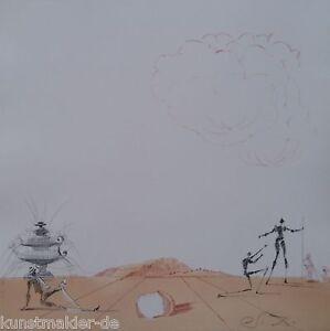 MUSEALE-Salvador-Dali-Original-Radierung-244-Phantasmes-de-la-plaine-de
