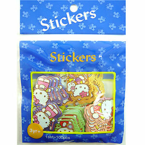 LATEST-100-pcs-Wholesale-Blue-Party-Bag-Filler-Sticker-For-Hello-Kitty-GIFT
