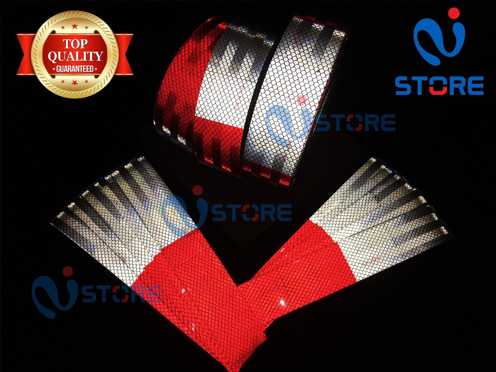 DOT-C2 Conspicuity Reflective Tape   6  Red & 6  White Safety Warning Trailer RV
