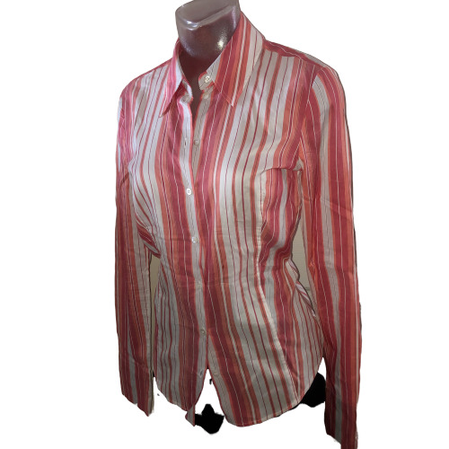 HUGO BOSS $195 Stripe Fitted Shirt Button Down Blo