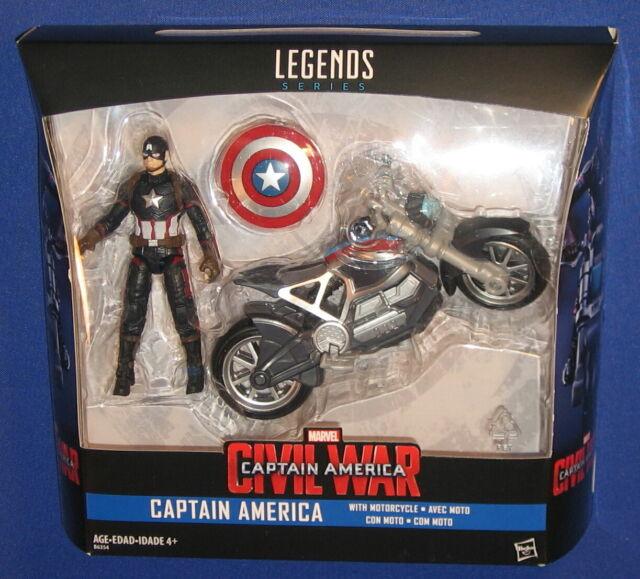 Marvel Super Hero Squad Wave Captain America /& MOTORCYCLE Bike Infinity Figure