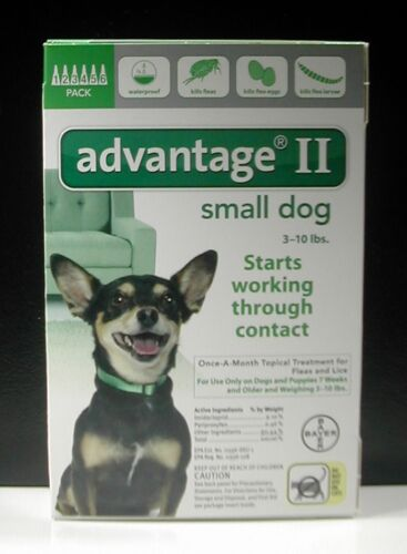 ADVANTAGE II for Small Dogs over 3-10 lbs (6 PACK) !!! US EPA APPROVED !!!
