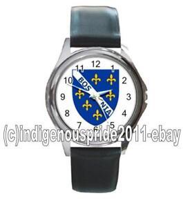 Bosnia-Bosnian-Bosnia-Flag-UNISEX-Watch-Unisex-Great-gift-Hurry-Mens-amp-Ladies