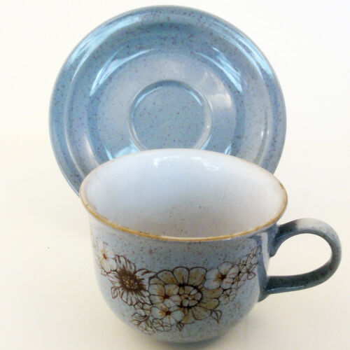 REFLECTIONS by Denby Cup & Saucer OLD VERSION NEW NEVER USED England