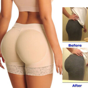 ac9a8f6814f Image is loading WOMEN-Padded-Butt-Lifter-Panty-Body-Shaper-Fake-