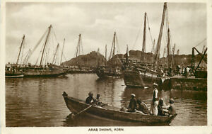 s13479-Arab-Dhows-Aden-Yemen-RP-postcard-COMBINED-SHIPPING