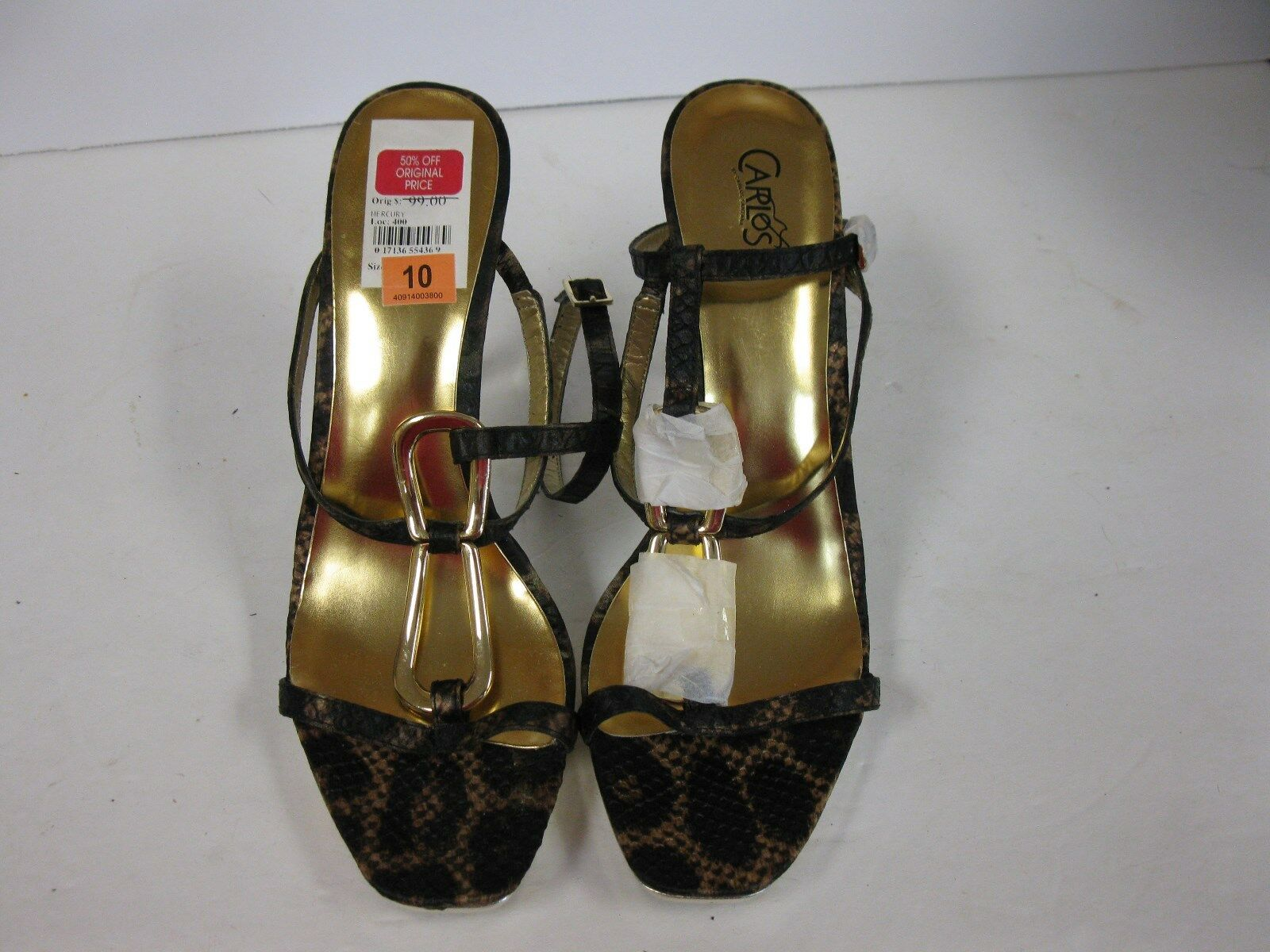 Carlos Santana Mercury platform sandal, natural leopard Dimensione10m