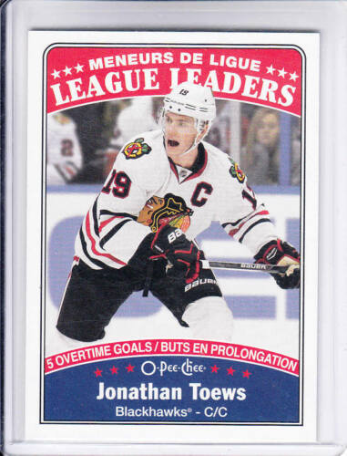 16//17 OPC Chicago Blackhawks Jonathan Toews League Leaders tarjeta #651