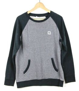 1cb6d31ae12 Details about DC Mens Crew Neck Sweatshirt Jumper Gray/Black Cotton - Size:  Medium