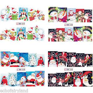 Christmas-Nail-Art-Water-Transfer-Decal-Theme-237-240