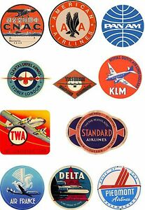 Vintage-Style-Airline-Travel-Suitcase-Luggage-Labels-Set-Of-11-vinyl-stickers
