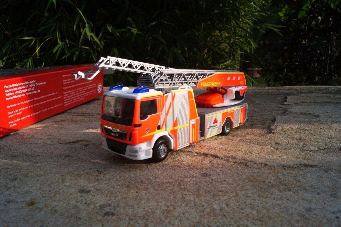 Herpa MAN TGM Metz Drehleiter 32 XS  Feuerwehr Göppingen   OVP  093064
