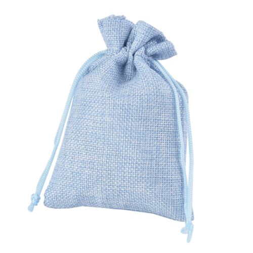 Wedding Favor Hessian Burlap Jute Favour Linen Gift Bags Drawstring Sack Pouch