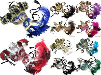Gras Jester Party Costume Birthday Masquerade Set Mask Venetian Collection Mardi qwTBZZtUF