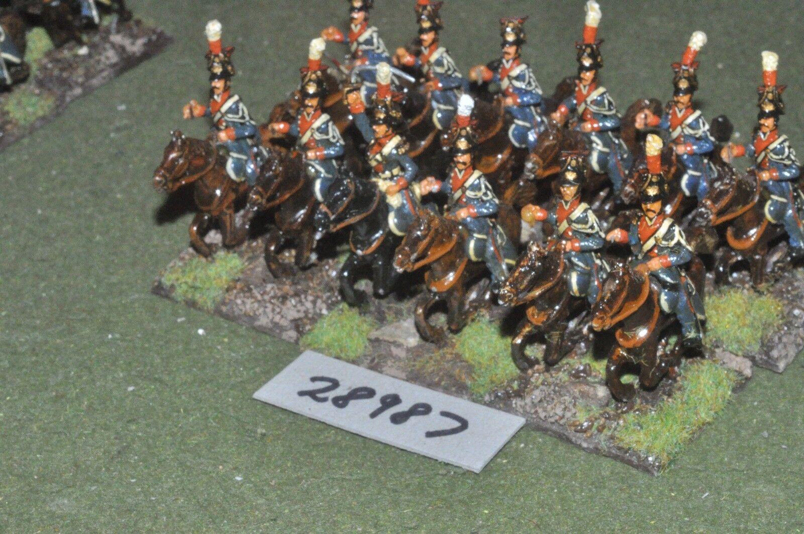 25mm napoleonic   french - polish lancers 12 figures - cav (28987)