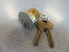"""New Corbin L4 Keyway 1 1//8/"""" mortise cylinder 626 26D keyed with 2 keys"""