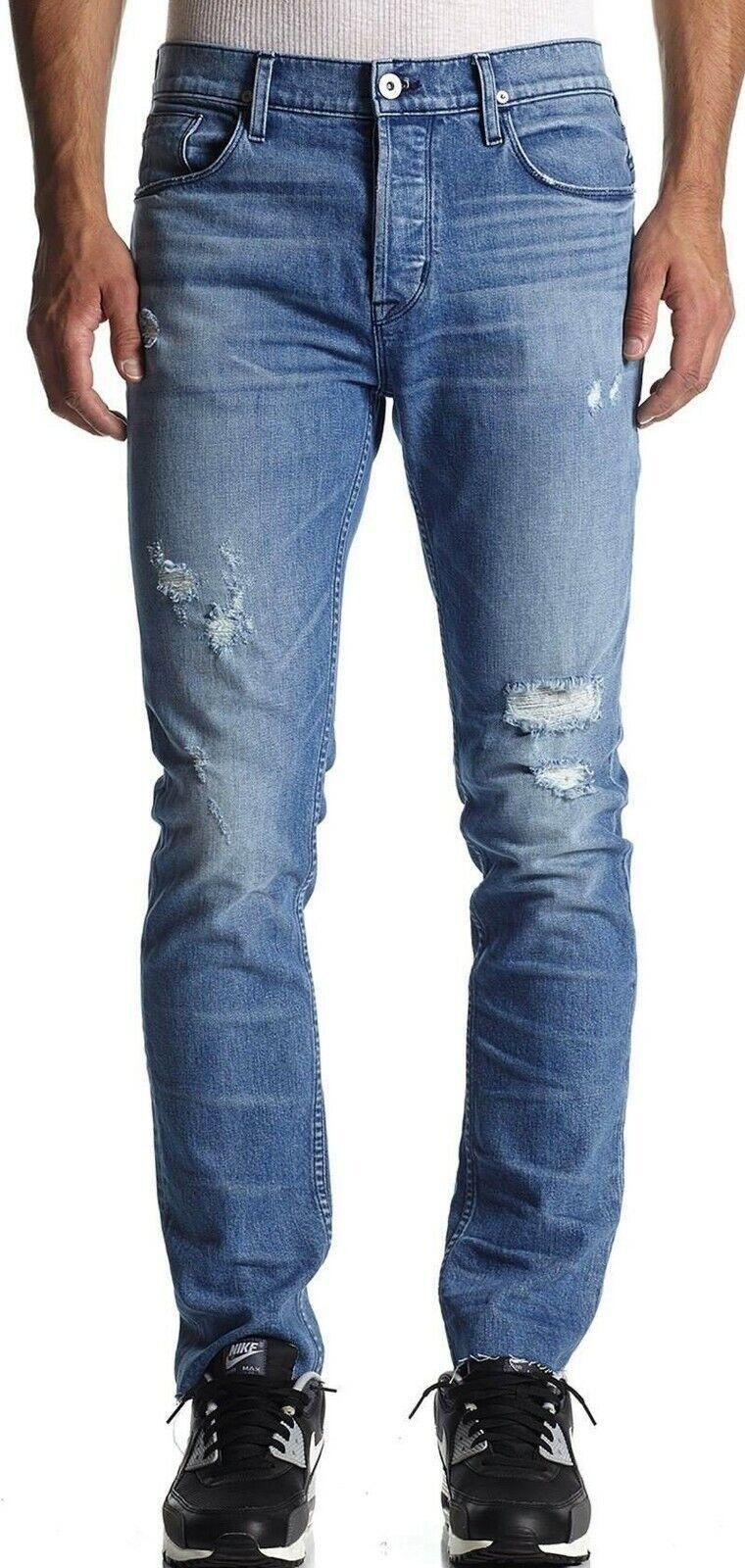 New with Tag -  Hudson Jeans Sartor Slouchy Skinny Raw Hem Jean Size 32