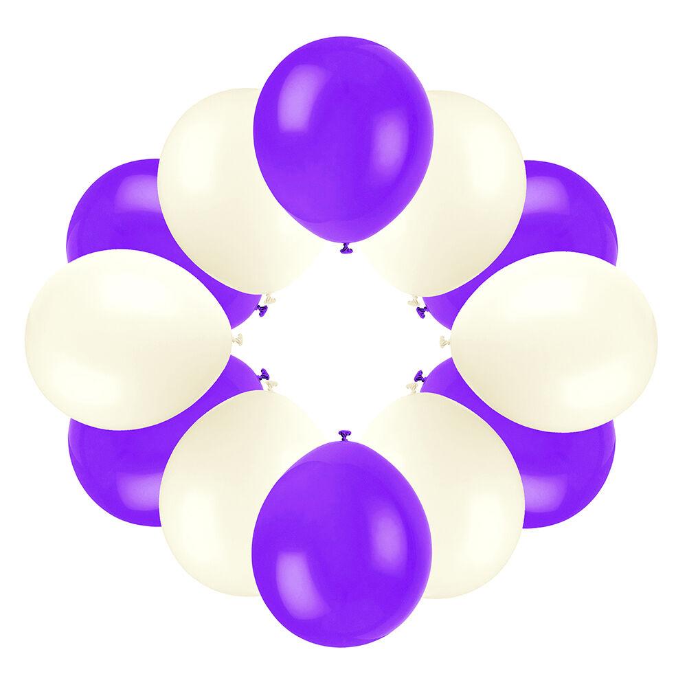 Haute qualité mariage ballon set  ivoire & cadbury's violet (x150)