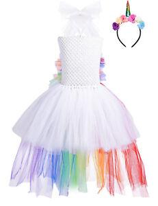 Madchen Festlich Tutu Kleid Einhorn Partykleid Cosplay Fasching