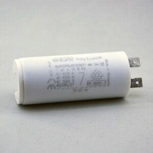 Trade-Pack-5-x-ICAR-7uF-500V-Run-Capacitor-MLR25PRL-Quick-Connect-Terminals