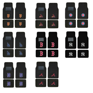 Brand-New-4pc-Set-MLB-Pick-Your-Team-Car-Truck-Front-Back-Carpet-Floor-Mats-Set